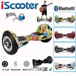 10'' Gyropode Hoverboard Self Balancing Scooter électrique SkateboardsBluetooth