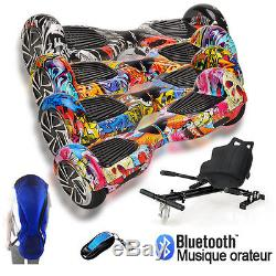 2017 Bluetooth Hoverboard + Karting Scooter électrique Self Balance Board