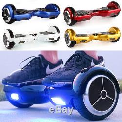 2 Roues Bluetooth Scooter Hover Board Auto Electrique Balance Monocycle 5Couleur