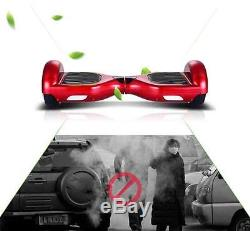2 Wheels Balancing Smart Electric Mini Scooter Skateboard Unicycle LED Red 4M8D