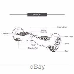 2 roues Gyropode Skate électrique Smart overboard Self Balancing Scooter sac BC