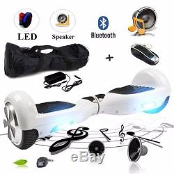 6.5Gyropode Skate électrique Smart overboard Self Balancing Scooter Blanc SN