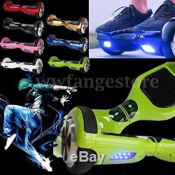6.7'' Smart LED 2 Roues Skate Board Scooter Electrique Equilibrage Monocycle