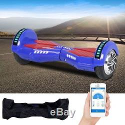 8 Hoverboard Segway Bluetooth&Chargeur&APP&Sac&Seurre Gyropode électrique CE RG