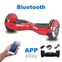 8 Hoverboard Segway Bluetooth&Chargeur&APP&Sac&Seurre Gyropode électrique SU