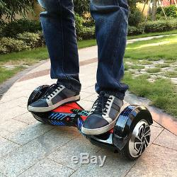 8inch LED Smart 2 roues Self Balancing Hover board monocycle électrique scooter