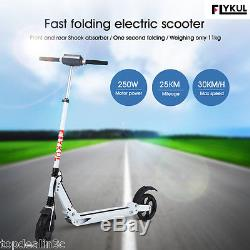 Flykul LED Scooter Trottinette Electrique Léger Pliable 30km/h 120kg Max Load FR