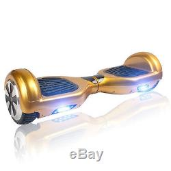 Gold Electric Smart Self Balancing Scooter Hover Board Unicycle Balance 2 Wheel
