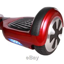 Hoverboard 6.5 Vin Rouge overboard Bluetooth+Sac+Télécommande avec Antichoc
