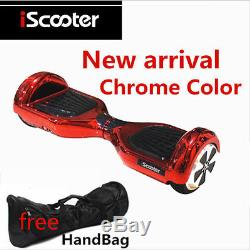 Hoverboard smart balance wheel overboard skate iscooter gyropode chrome