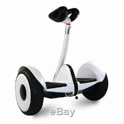 Mini Scooter gyropode de barre overboard electric auto équilibre balance blanc