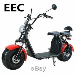 Scooter ÉlectriC EEC Citycoco Harley 1000watt 60V 12Ah Homologuée route 2 places